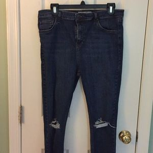 Topshop Motto Jamie Ripped Jeans W34
